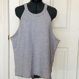 AERIE NWOT grey sweatshirt tank top XL